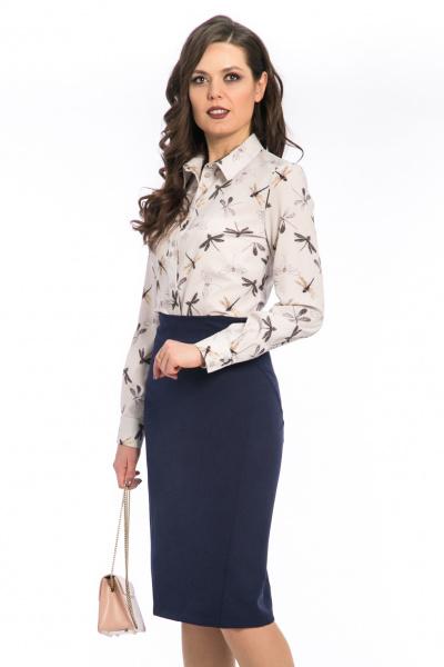 """Блуза с принтом """"стрекозы"""", Б-186/6"""
